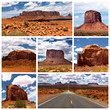 Monument Valley collage