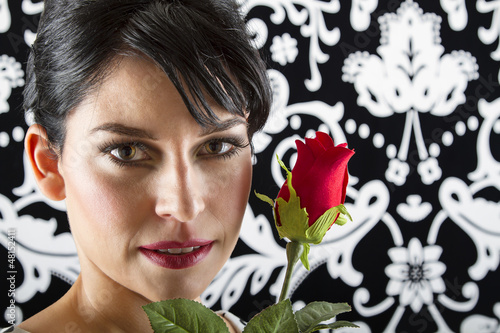 face and rose