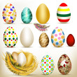 Easter set of colorful vector eggs