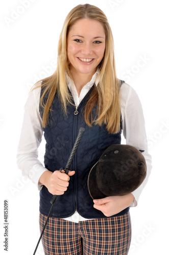 Junge Frau im Reitdress
