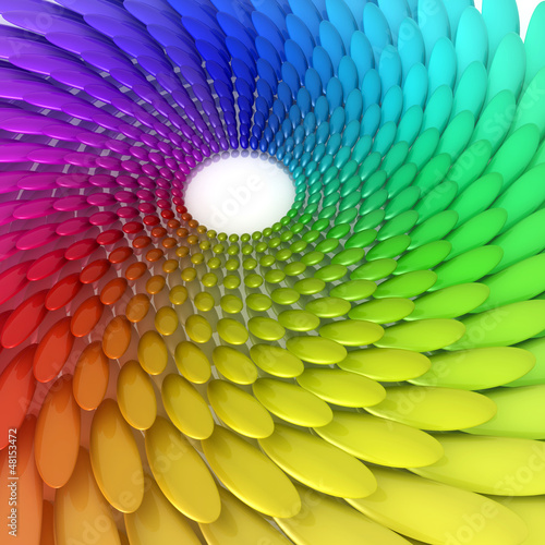 3D composition of the color spectrum
