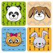 Divertida tarjeta de animales
