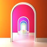 Fototapety Archway to the colorful future.