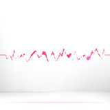 Red pink waveform background.    EPS8