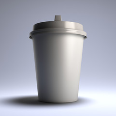 White coffee paper cup.