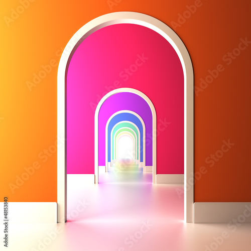 fototapeta na ścianę Archway to the colorful future.