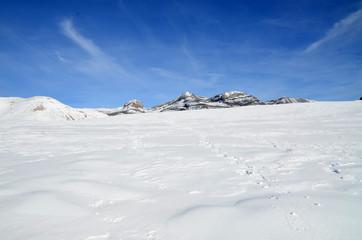ladera de nieve