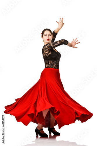 woman gypsy flamenco dancer