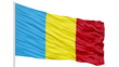 Looping of the Romania flag