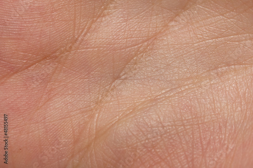 background from the lines on the hand. Macro