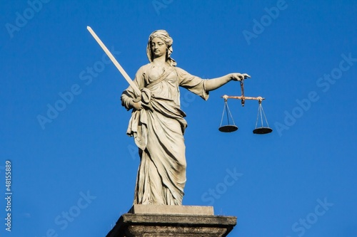 Justice statue at Dublin Castle