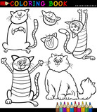 Cartoon Cats or Kittens Coloring Page