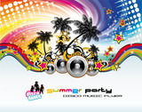 Fototapety Music Event Discoteque Flyer