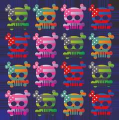 american color skull pattern
