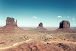 The famous landscape of Monument Valley