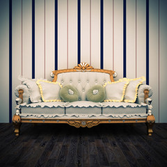 beautiful old sofa interior