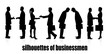 silhouettes of business people meeting