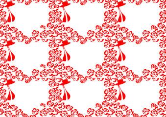 Рамка. Фон. Сердце и розы.