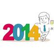 Geschäftsmann, 2014, Sektglas, Silvester, Neujahr