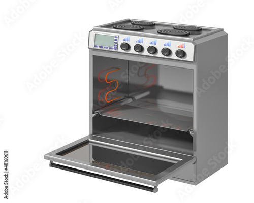 electric stove on a white background