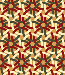 Decorative retro interlacing seamless pattern.