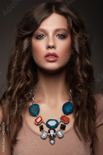 Woman with beautiful necklace