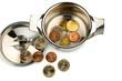 Kochtopf und Euromünzen