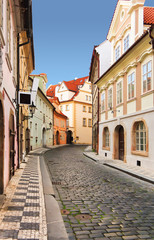 Prague street, czech republic.