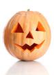 halloween pumpkin, isolated on white