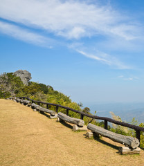 Mountain view point in Sinan natural park, Thailand