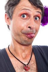 Funny transvestite face