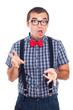 Crazy nerd man