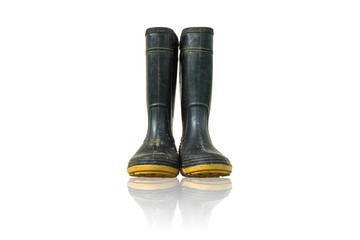 A pair of ruber boots