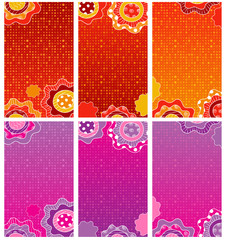 Floral decorative banners