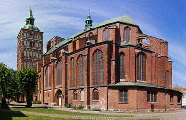 Church Sankt Nikolai in Stralsund, Germany - Panoramic view