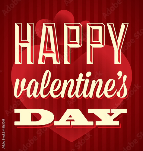 Vector Happy Valentine's Day Card and Wallpaper