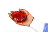 Bloody heart ready for transplant poster