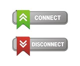 disconnect connect buttons poster