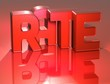 3D Word Rate on red background