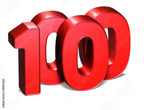 3D One Thousand on white background