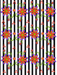 3D Daisies on Striped