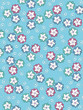 Background Pale Petals on aqua