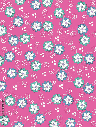 Background Pale Petals on Deep Pink