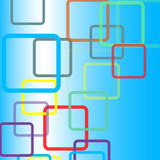 abstract square vector design