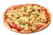 Image of fresh italian pizza isolated
