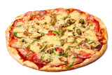 Fototapeta Image of fresh italian pizza isolated