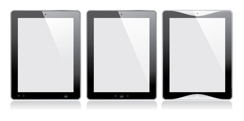 Digital tablet. Blank screen. Isolated on white. Vector.