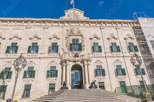The Auberge de Castille in Valletta, Malta
