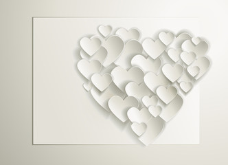 Elegant background with vector hearts. Valentine's Day