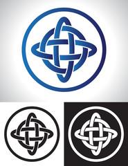Quarternary celtic knot design